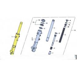 Baton de fourche droit  ou gauche pour le scooter Honda PCX 125 Pièce moto d'origine Honda.