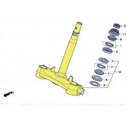 T de fourche pour le scooter Honda PCX 125 Pièce moto d'origine Honda.
