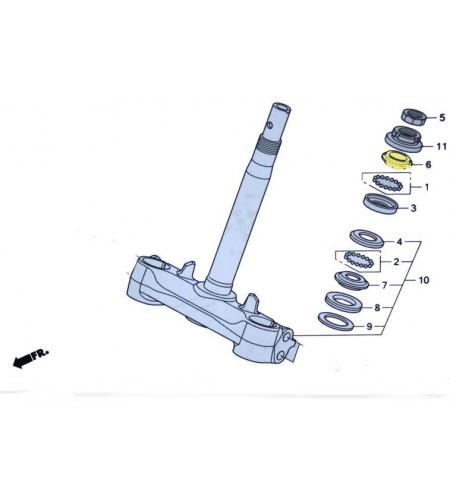 Cone de direction fourche pour le scooter Honda PCX 125 Pièce moto d'origine Honda.