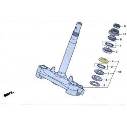 Couvercle roulement à bille inférieur fourche pour le scooter Honda PCX 125 Pièce moto d'origine Honda.