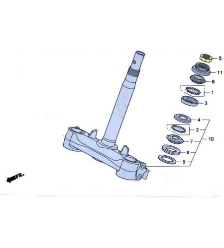 Ecrou de serrage supérieur fourche pour le scooter Honda PCX 125 Pièce moto d'origine Honda.