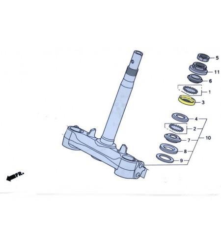 Logement pour billes de roulement fourche pour le scooter Honda PCX 125 Pièce moto d'origine Honda.