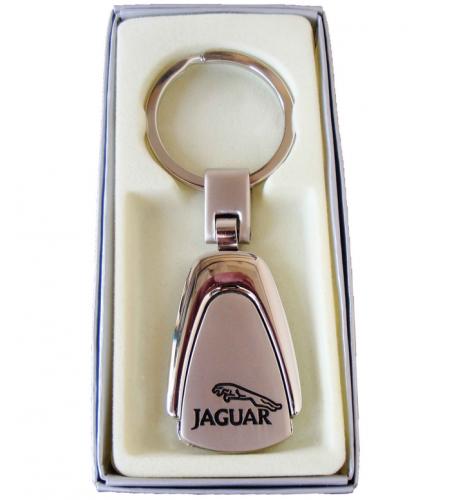 Porte-clés Jaguar en Acier 316L Chromé