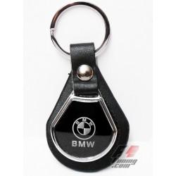 Porte-clés MERCEDES sur écusson de cuir noir