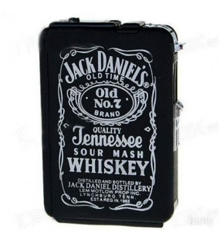 Etui à cigarettes automatique JACK DANIEL'S avec briquet à gaz intégré